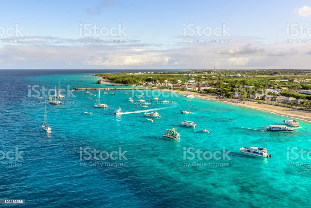 Grand Turk Island beautiful beach stock photo