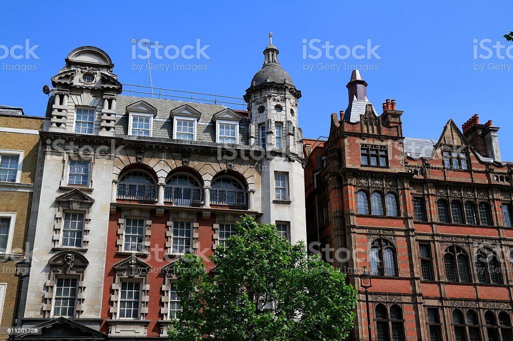 Grand Victorian mansions stock photo