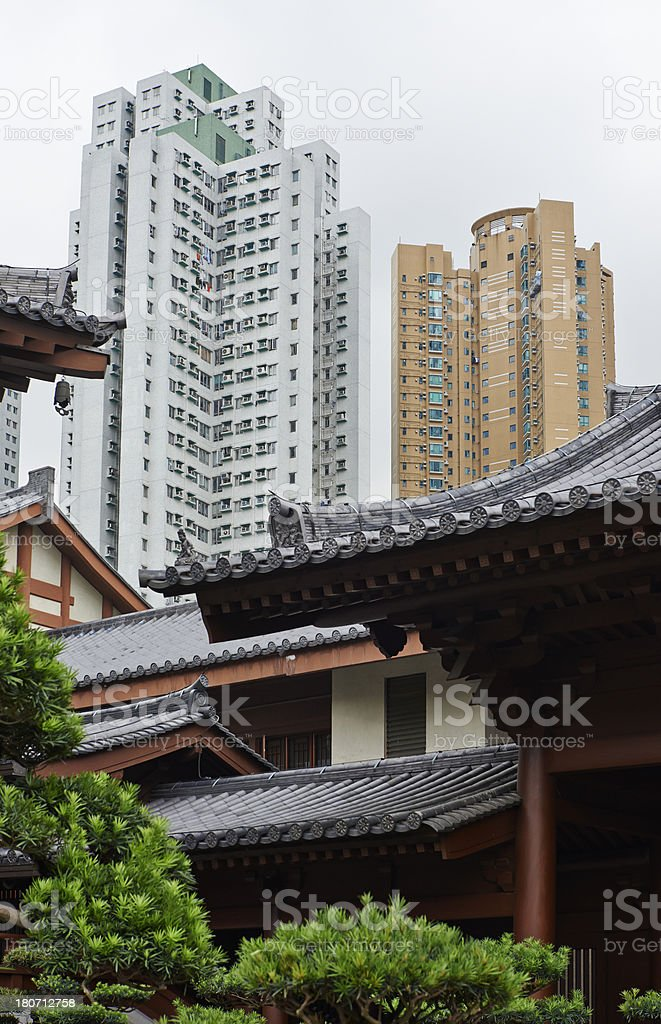 Grand View Garden in Hong Kong royalty-free stock photo