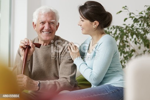 istock Granddaughter caring about her grandfather 486455654