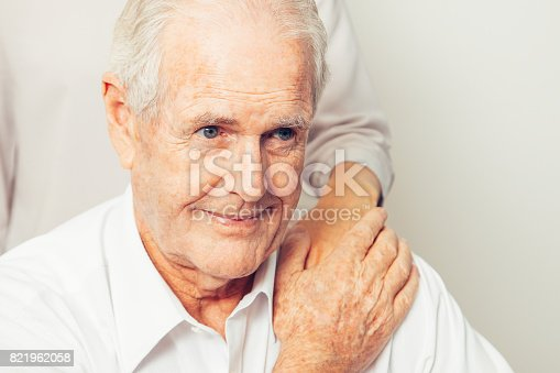 istock Granddaughter Taking Care of Senior Grandfather 821962058