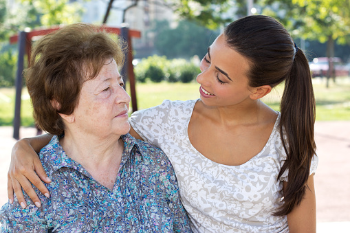 144362548 istock photo Granddaughter with grandmother 471449947
