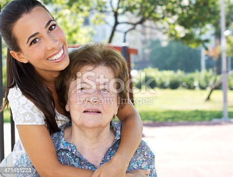 144362548istockphoto Granddaughter with grandmother 471451223