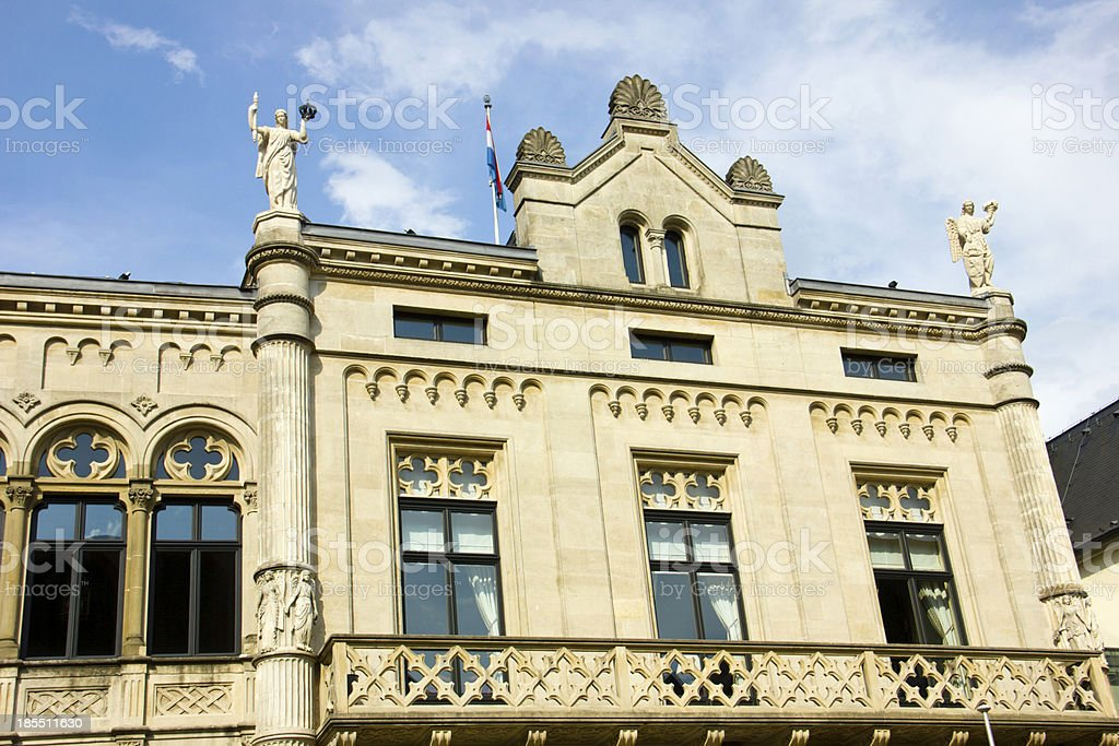 Grand-Ducal Palace in Luxembourg City stock photo