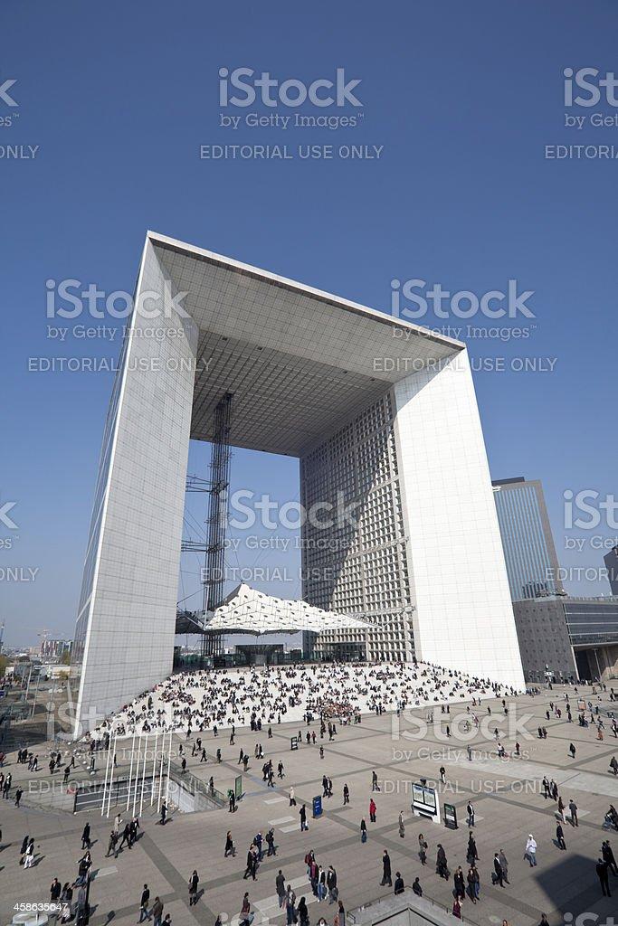 Grande Arche de La Defense royalty-free stock photo