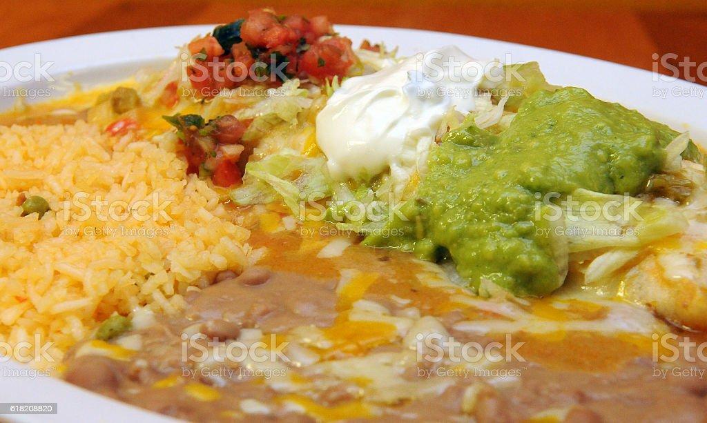 Grande Burrito Beginning stock photo