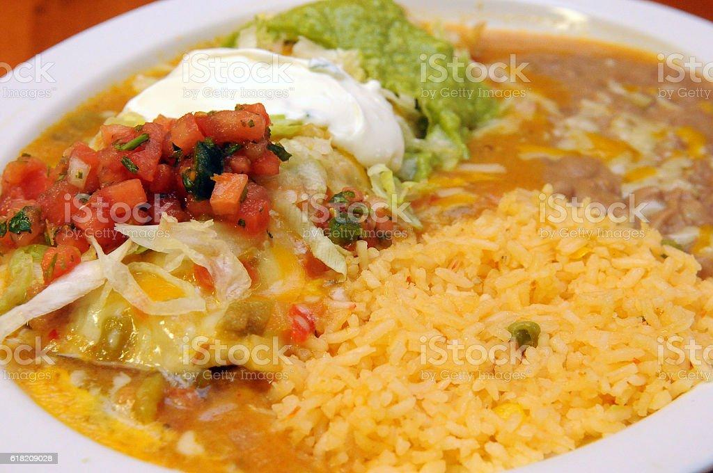 Grande Burrito Close Up stock photo