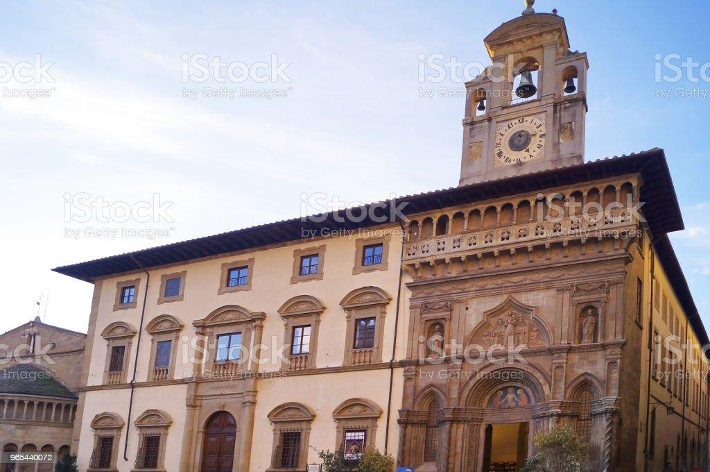 Grande-Platz, Arezzo - Lizenzfrei Antiquität Stock-Foto
