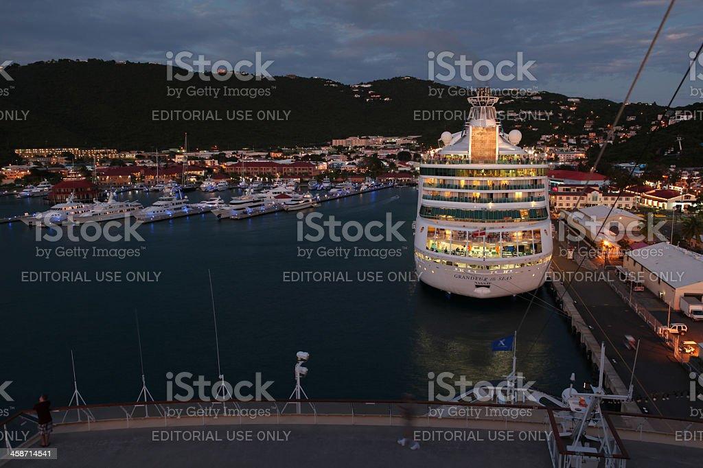 Grandeur Of The Seas at St. Thomas royalty-free stock photo