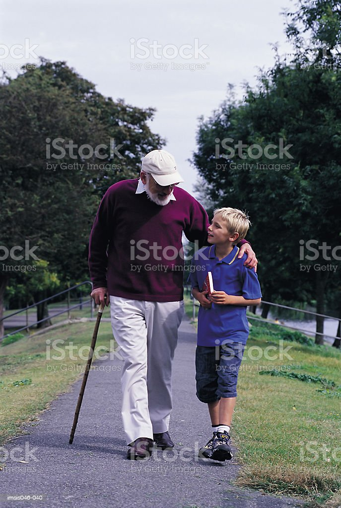 Grandfather and child royalty-free stock photo