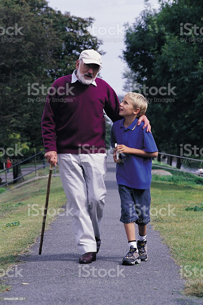 Grandfather and child foto royalty-free
