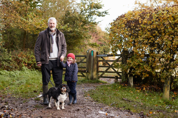 Grandfather and granddaughter taking dog for walk picture id650702620?b=1&k=6&m=650702620&s=612x612&w=0&h=60qez3dxepko0qqlqh4cfu0uipfj0mecb7yhxexvv8m=