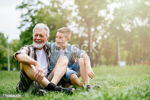 639800036istockphoto Grandfather and grandson enjoy a game 1153606428