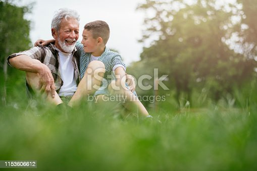 639800036istockphoto Grandfather and grandson enjoy a game 1153606612
