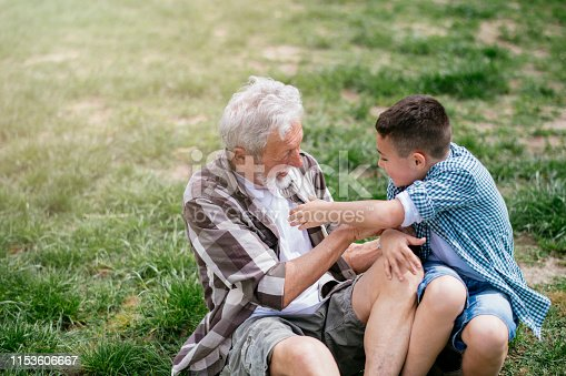 639800036istockphoto Grandfather and grandson enjoy a game 1153606667