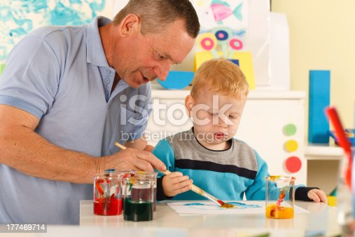 istock Grandfather and grandson 177469714