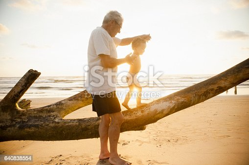 istock Grandfather and grandson 640838554