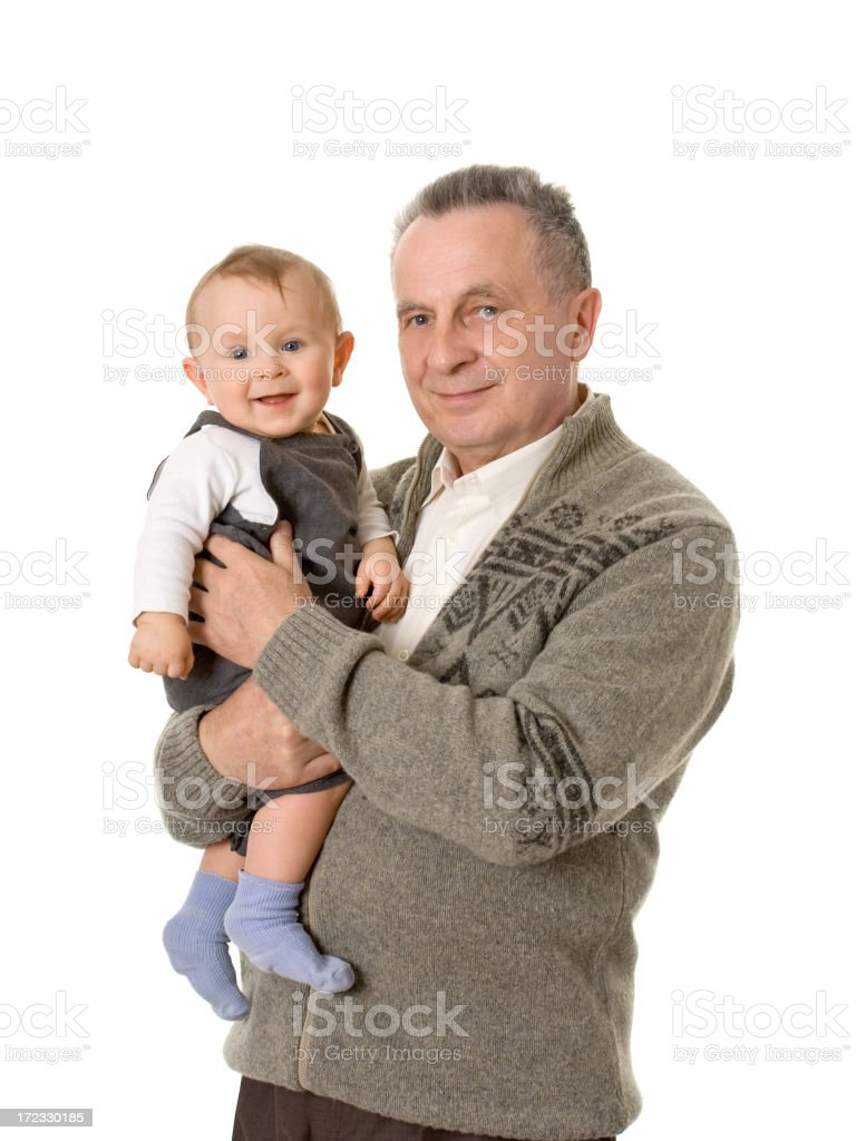 grandfather and his grandchild royalty-free stock photo