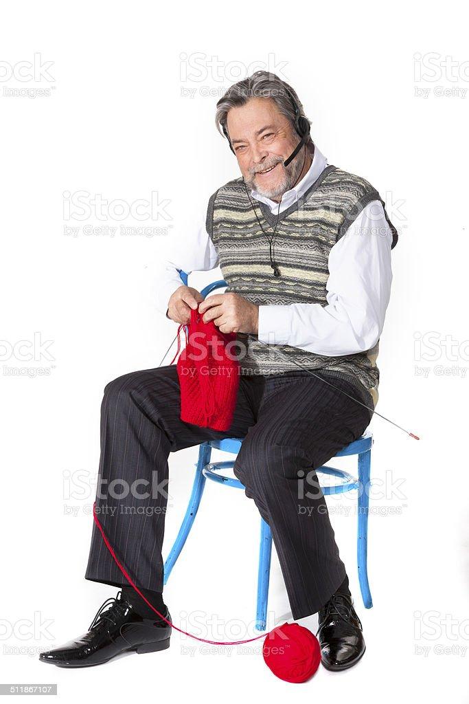 Grandfather cardigan stock photo