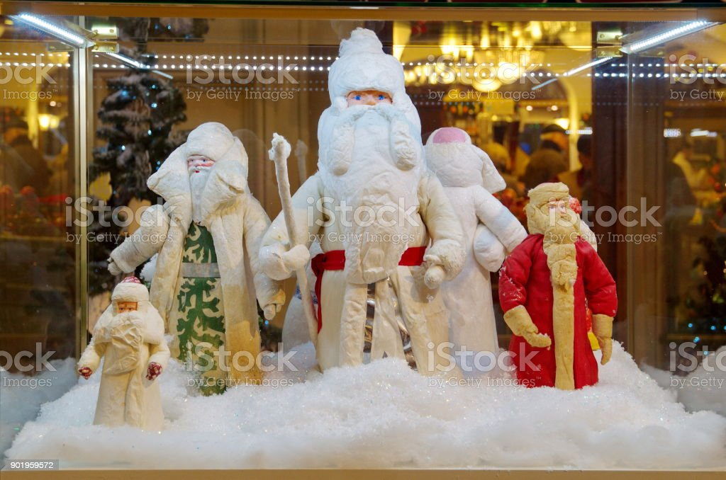 Grandfather frost Russian - old Russian Christmas toy stock photo