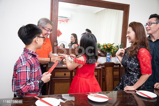 Chinese New Year, Love, Family bonding and Togetherness Concepts
