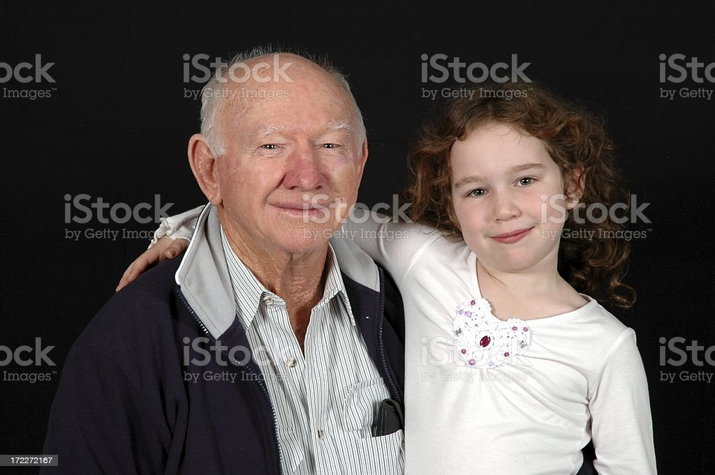 Grandfather & Grandaughter royalty-free stock photo