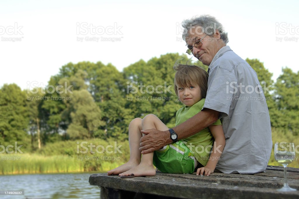Grandfather & Grandson royalty-free stock photo