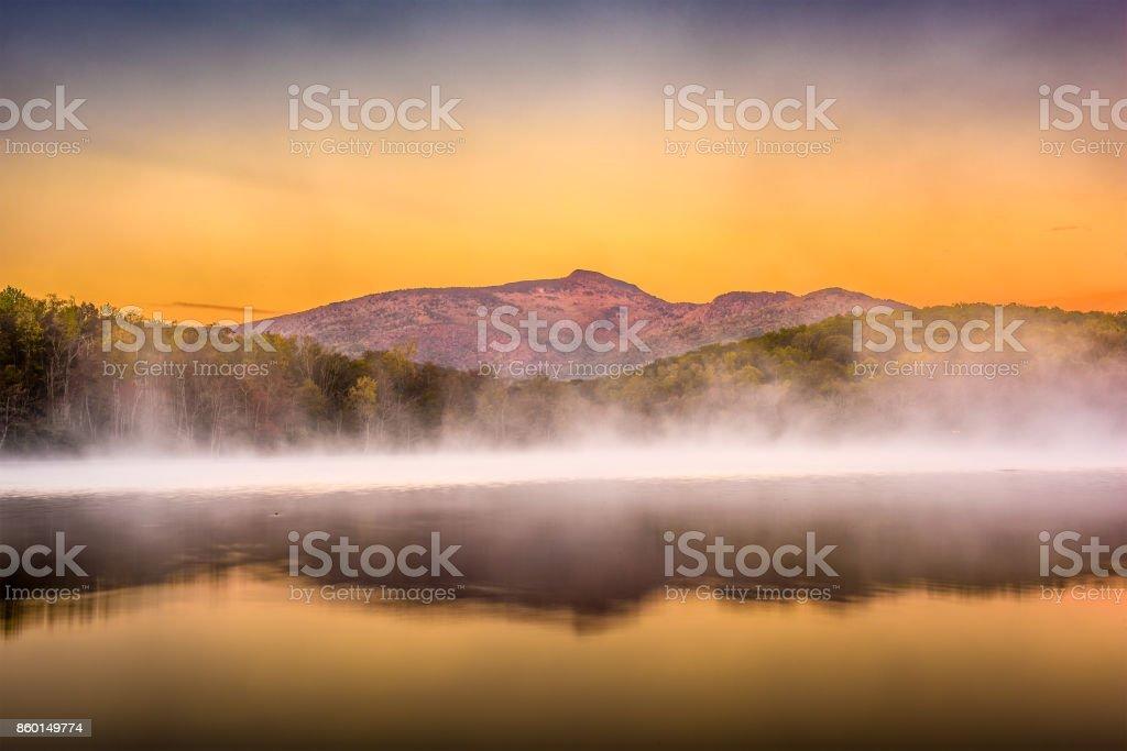 Grandfather Mountain at Dawn stock photo