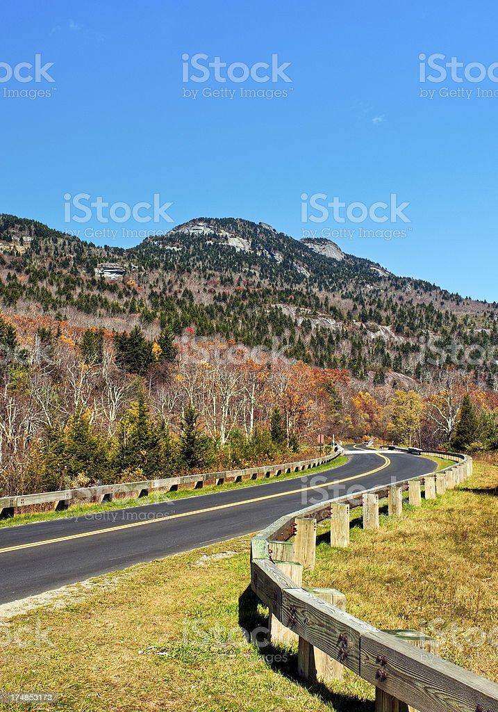 Grandfather Mountain, Blue Ridge Parkway, North Carolina stock photo