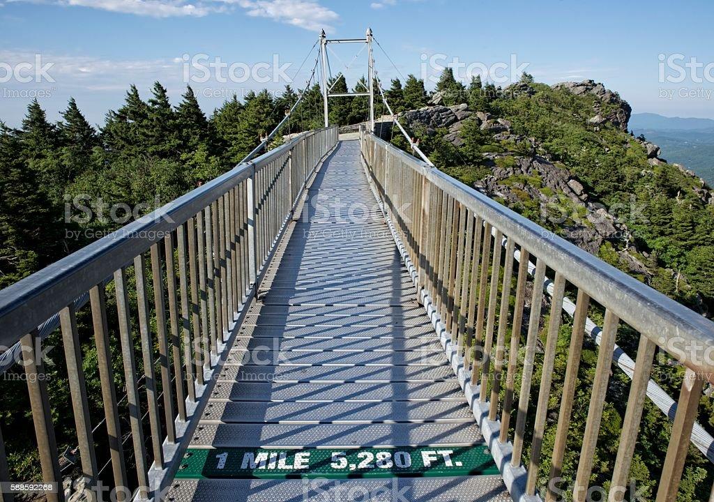 Grandfather Mountain Bridge stock photo