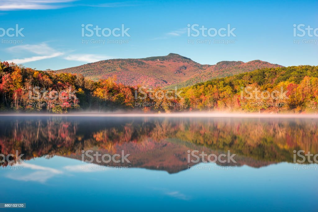 Grandfather Mountain in Fall stock photo