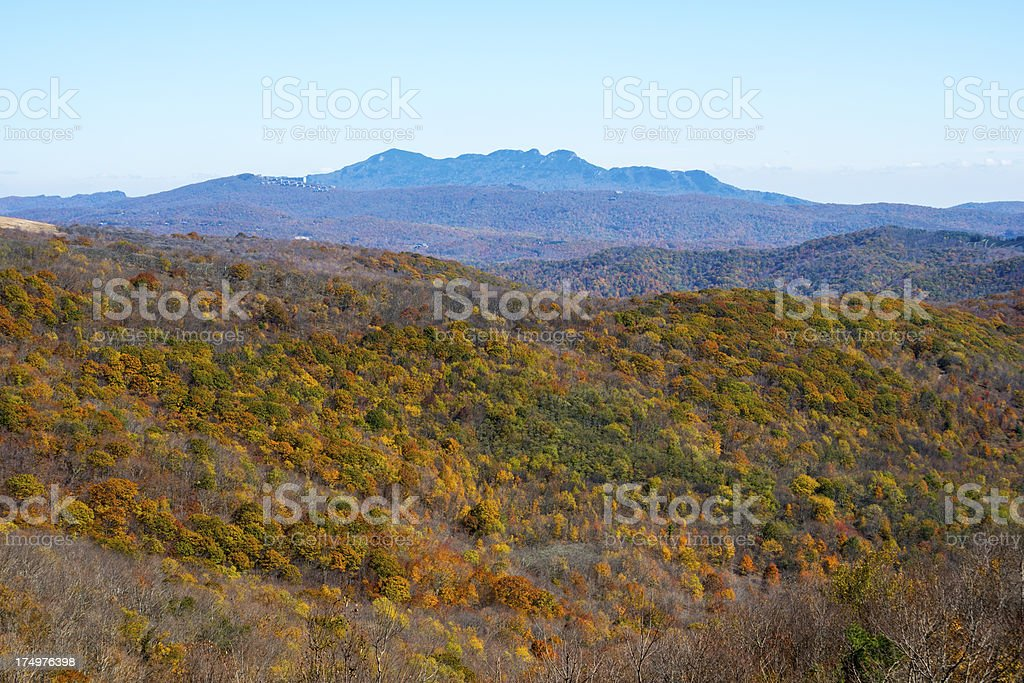 Grandfather Mountain in North Carolina stock photo
