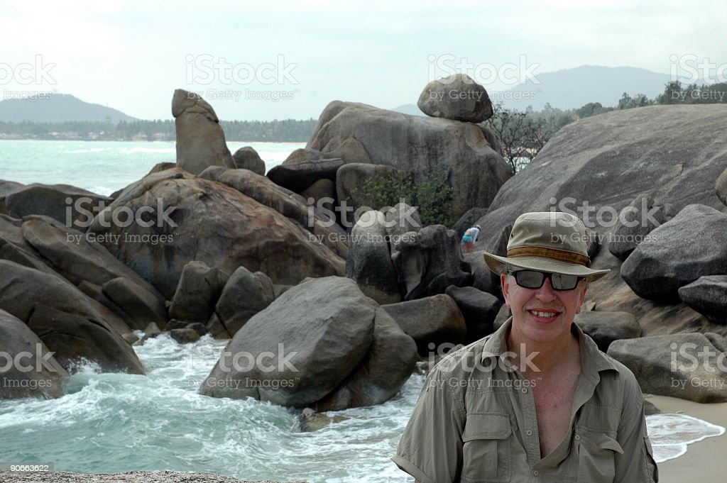 'Grandfather' Rock,Thailand royalty-free stock photo