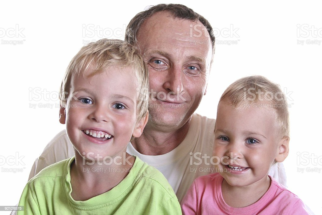 grandfather with children royalty-free stock photo