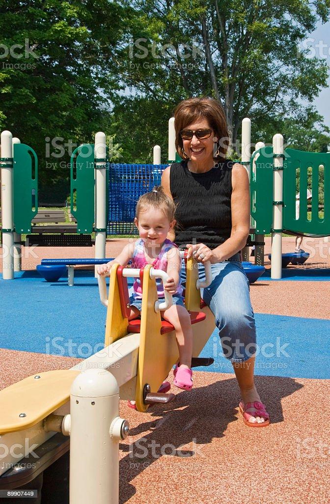 Grandma y nieto foto de stock libre de derechos