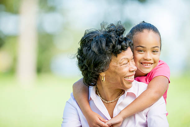 Grandma and Granddaughter Spending Quality Time stock photo