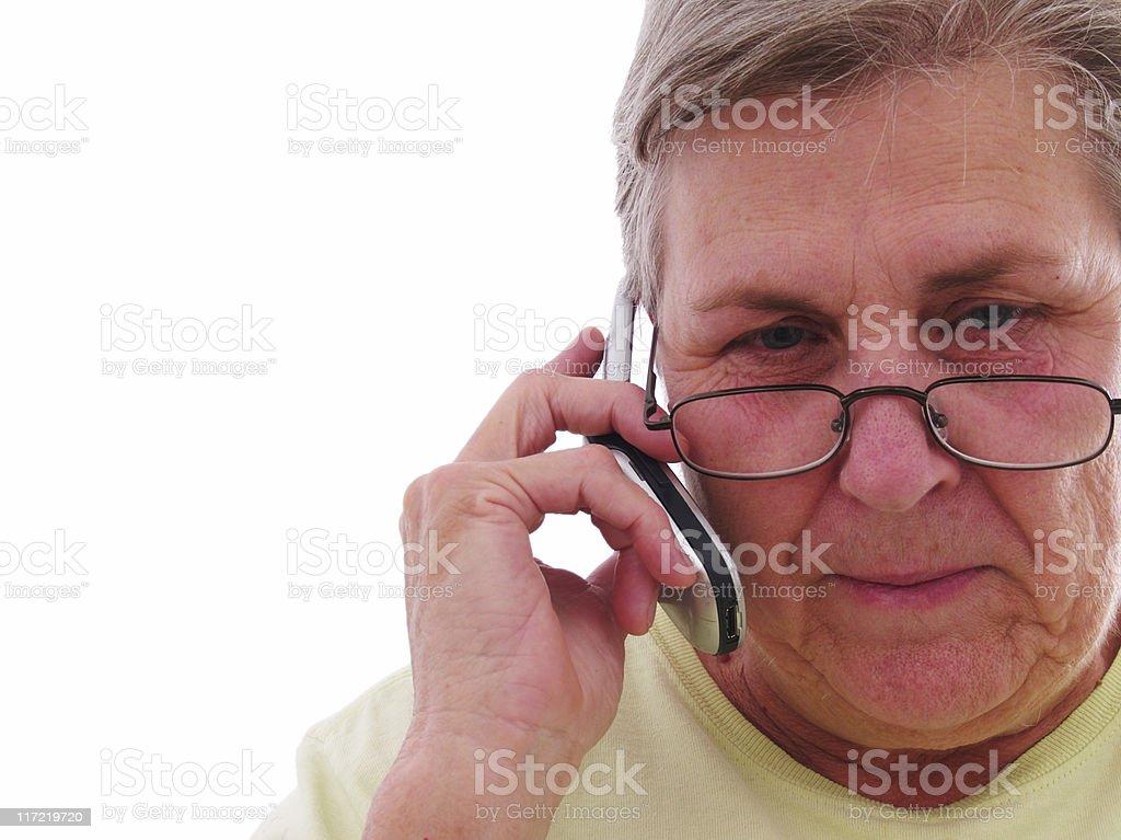 Grandma gets a Call royalty-free stock photo