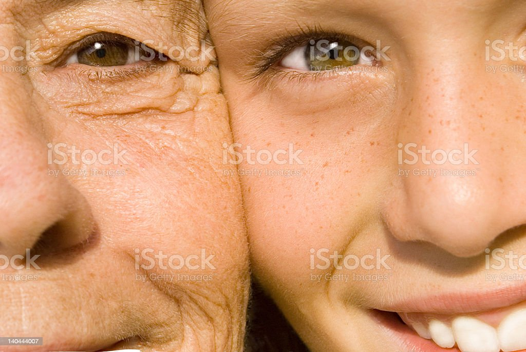 Grandma grandson(SEE below for more family images) royalty-free stock photo