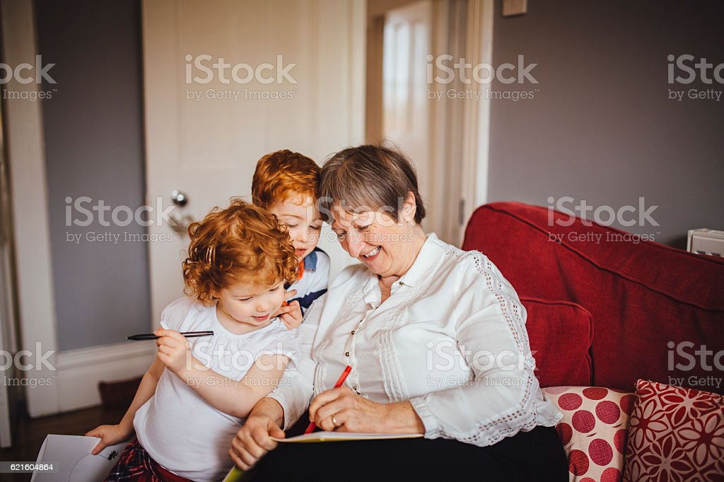 Grandma is a Good Drawer - foto de stock