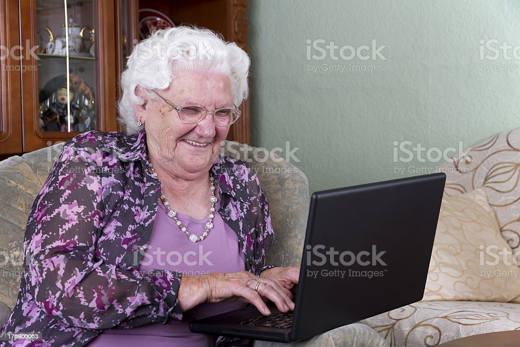 PC Grandma royalty-free stock photo