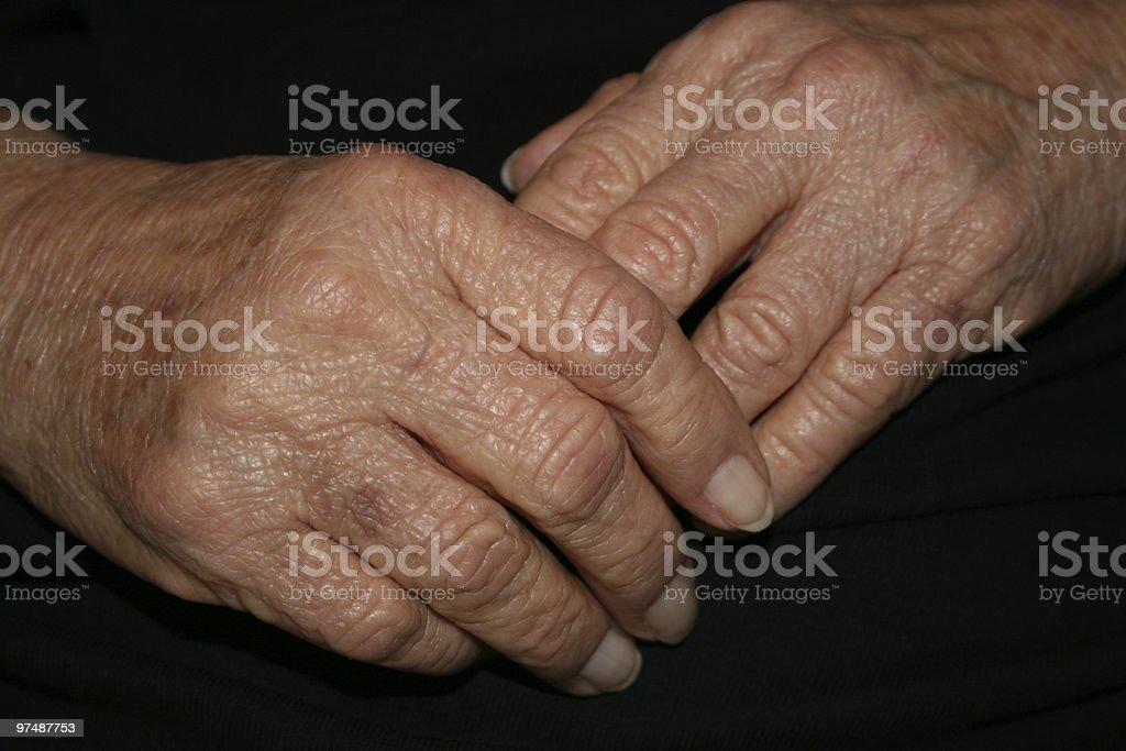 Grandmas Hands royalty-free stock photo