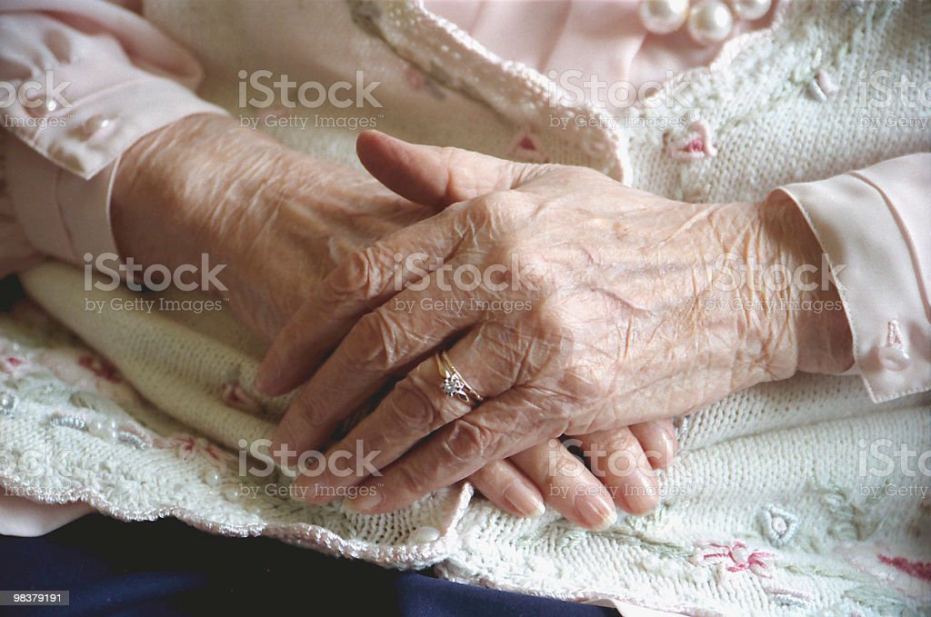 Grandma's Hands royalty-free stock photo
