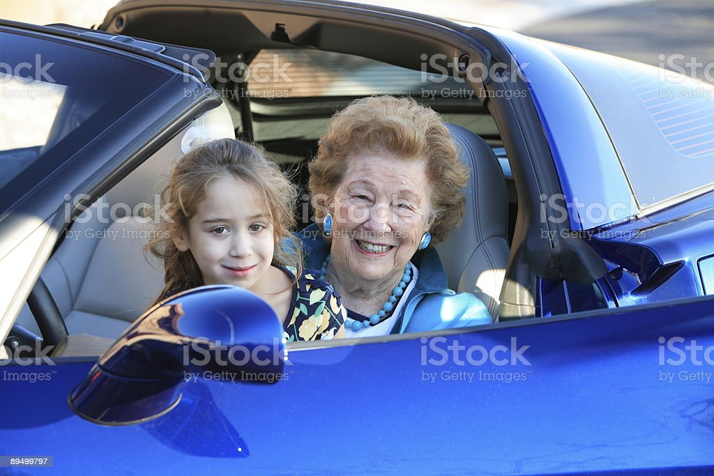 Grandma's New Car 2 royalty-free stock photo