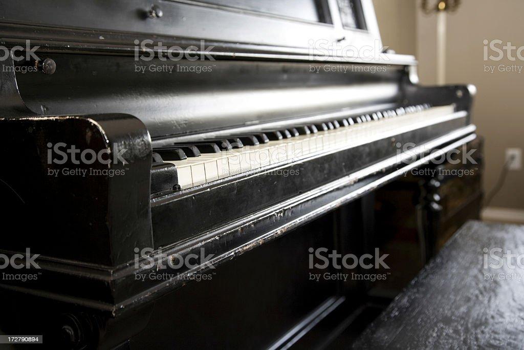 Grandma's Piano stock photo