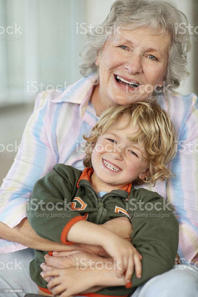 Grandmother and grandchild having a great time together royalty-free stock photo