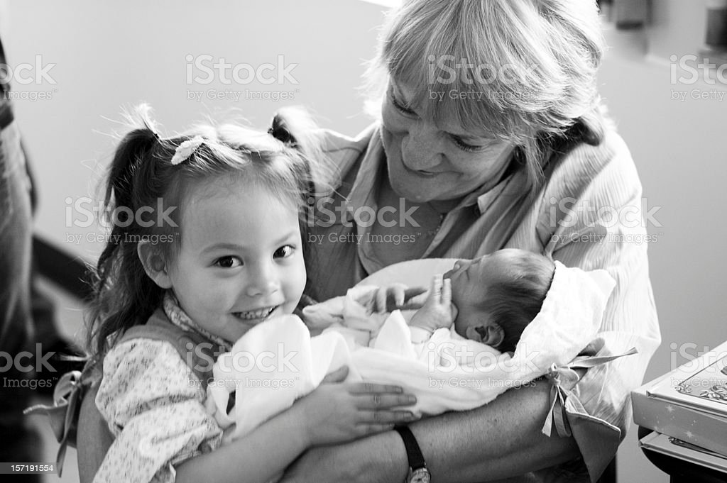 Grandmother and Grandchildren royalty-free stock photo