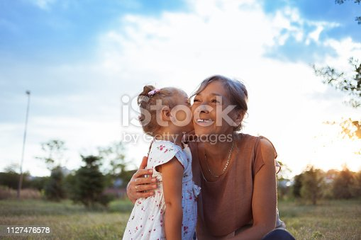 istock Grandmother and granddaughter enjoying in nature 1127476578