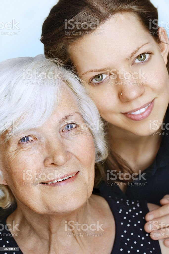 Grandmother and Granddaughter royalty-free stock photo