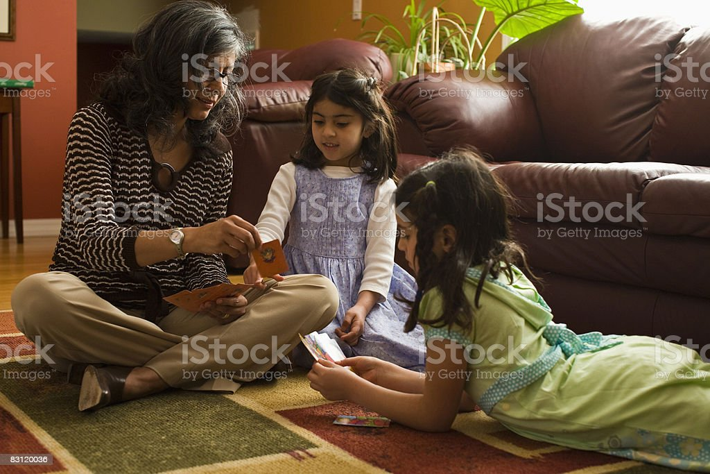 Nonna e granddaughters foto stock royalty-free