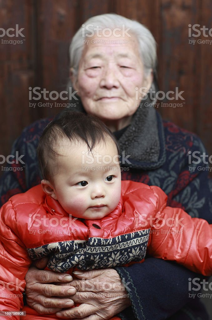 Grandmother and Great-grandson royalty-free stock photo